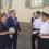 Spalier stehen bei Hochzeit von Jonas und Stephanie Hofman